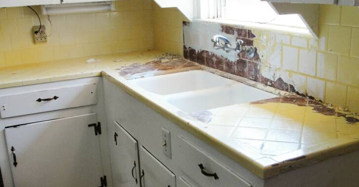 New Generation Repaired All The Broken Tiles, And Refinished The Countertop  With A Stone Fleck Look. The Customer Picked The Midnight Sky Stone Fleck  For ...